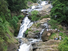Large waterfall near Nuwara Eliya