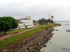 An overcast view of one of the most photographed areas of Galle Fort