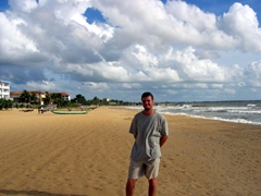 Robby on the beach in Negombo
