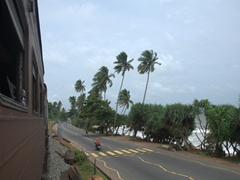 Coastal view of our train ride from Mount Lavinia to Hikkaduwa
