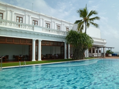 View of the inviting pool at Mount Lavinia Hotel