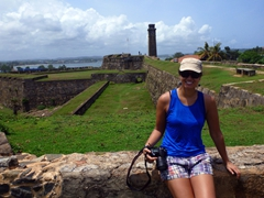 Becky strikes a pose at Galle Fort, one of the best examples of a fortified city built by Europeans in South Asia