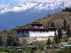 Gorgeous view of the Paro Dzong (site of the Paro Tsechu)