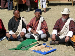 A lesson in patience; Bhutanese elders crushing their beetle-nut