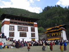 Festival grounds; Paro Tsechu