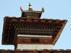 Detail of the top of a stupa; Paro