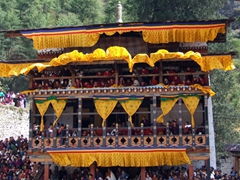 The monks enjoyed a fantastic view of the Tsechu from their building