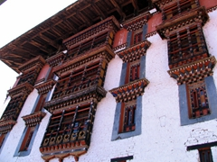 Frontal view of the Paro Dzong