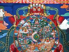 Huge mandala; Paro Dzong