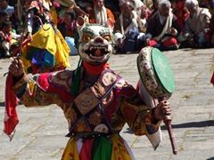 Colorful dancer; Paro Tsechu