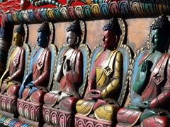 Buddha carving; Paro Tsechu souvenir stand