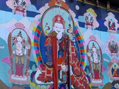 The massive Thangka (Thongdrol) is displayed during the Shugdrel Ceremony; Day 5 of Paro Tsechu