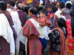 Local families crowd in for Day 5; Paro Tsechu