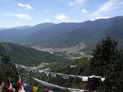 View of the Paro valley on the way to the 'Tiger's Nest'