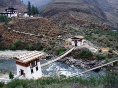 The original iron bridge in Bhutan; Tamchhog Lhakhang
