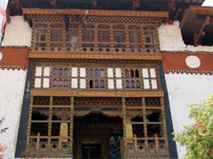 The imposing entrance to the Punakha Dzong