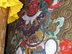 Channa Dorji mural; Punakha Dzong