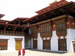 Interior of the Punakha Dzong