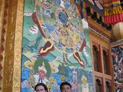 Robby and Aryan at Punakha Dzong