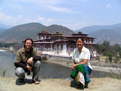 The Punakha Dzong is so very scenic and makes the perfect backdrop for Robby & Becky