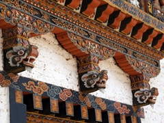 Dragon decor; Punakha Dzong
