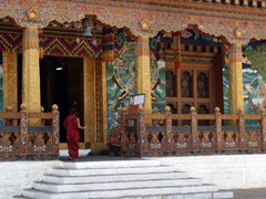 """Hundred Pillar Congregation Hall""; Punakha Dzong"