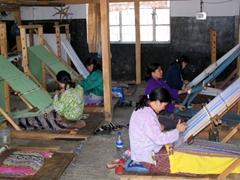 Women hard at work; Gagyel Lhundrup Weaving center
