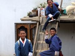 School children from a village near Thimpu