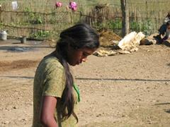 Portrait of a graceful Tharu woman