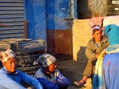 Locals relaxing in Kathmandu