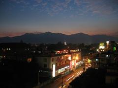 Kathmandu just after sunset