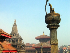 Patan Durbar Square is one of three Durbar Squares in Kathmandu Valley, and is a gorgeous area to wander around admiring beautifully carved temples, shrines and monuments