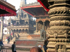 Patan Durbar Square is in the middle of Patan city, (or Lalitpur), and the ancient royal palace of the former Patan royal family can be found here