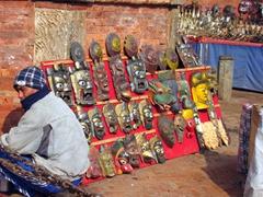 Souvenir vendor; Patan Durbar Square