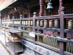 Prayer wheels at a temple in Patan Durbar Square