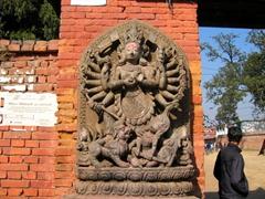 Detail of a Hindu Goddess; Bhaktapur Durbar Square