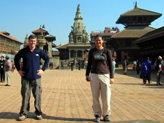 Standing in the middle of Bhaktapur Durbar Square. This area is considered one of the highlights of the entire Kathmandu Valley