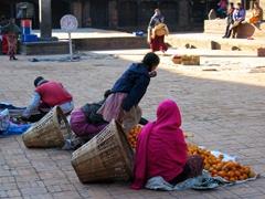 Mandarin oranges for sale; Bhaktapur