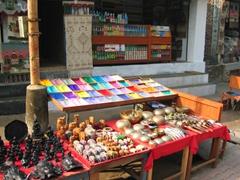 Colorful spices for sale, Pashupatinath Temple Complex