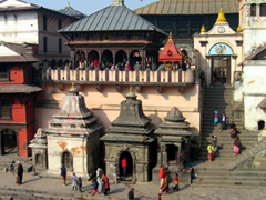 Another view of Pashupatinath Temple, located on the banks of the Bagmati River in the eastern part of Kathmandu