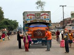 A Nepalese jingle truck