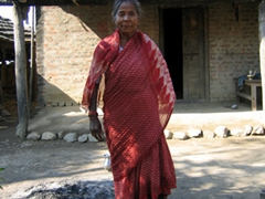 This Tharu grandmother enjoyed our visit to her village