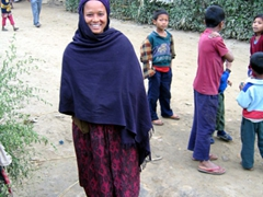 This Tharu woman's beautiful smile made our day
