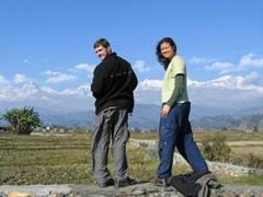 Caught gazing back towards Pokhara