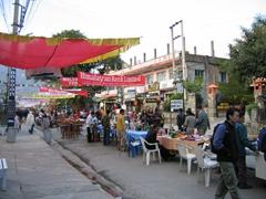 Pokhara street scene just before New Years
