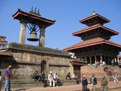A peaceful scene in Patan Durbar Square