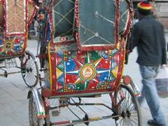 Rickshaw for hire; Kathmandu Durbar Square
