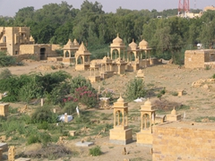 View of tombs from Gadi Sagar; Jaisalmer