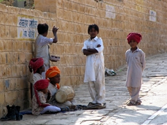 Young entertainers; Gadi Sagar water tanks