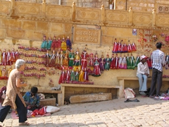 Lots of puppets for sale; Jaisalmer Fort